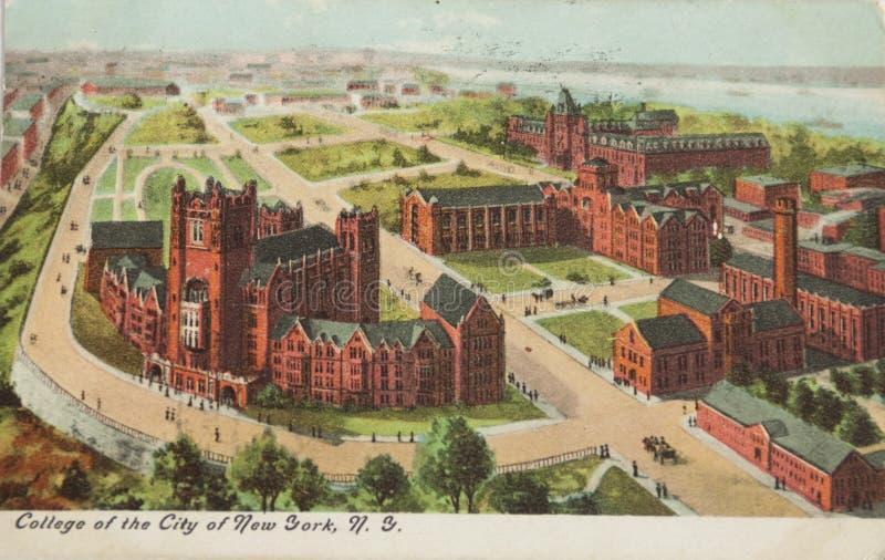 Université de ville de New-York images stock