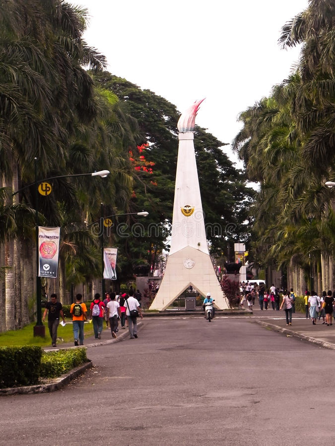 Université des Philippines, visibilité directe Baños, Laguna image libre de droits