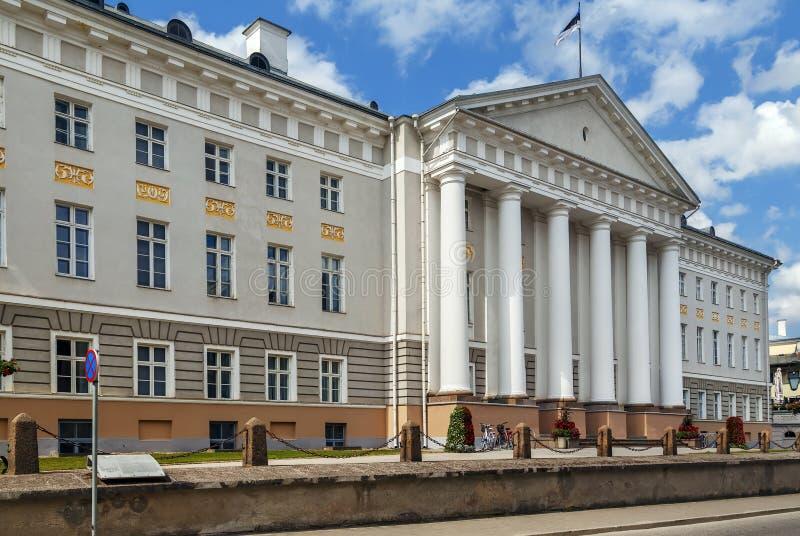 Université du bâtiment principal de Tartu, Estonie photo libre de droits