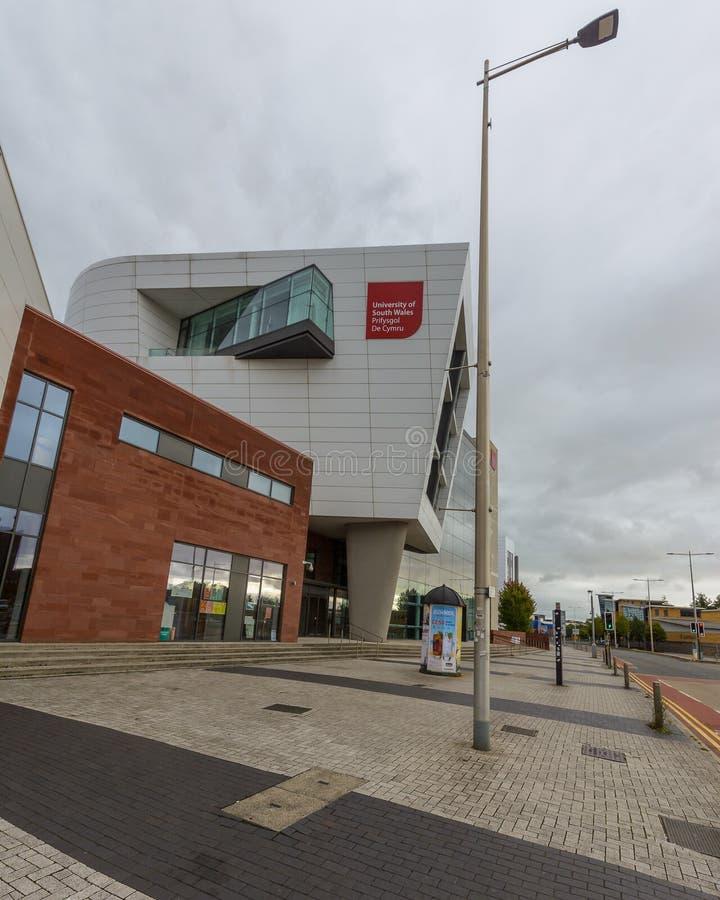 Université du campus B du sud du pays de Galles - de Cardiff photo libre de droits