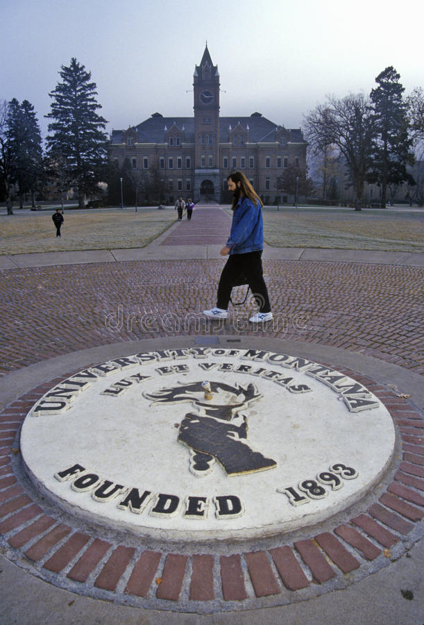Université du Montana chez Missoula, la TA photo libre de droits