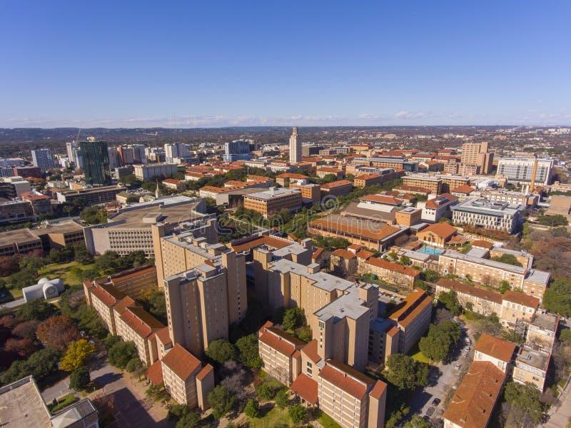 Université du Texas à la vue aérienne d'Austin, le Texas, Etats-Unis image libre de droits