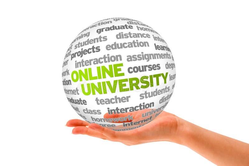 Université en ligne illustration stock