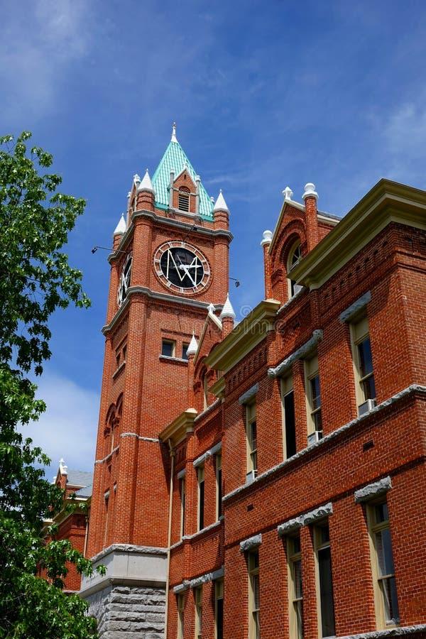Université Hall au Montana depuis 1898 image libre de droits
