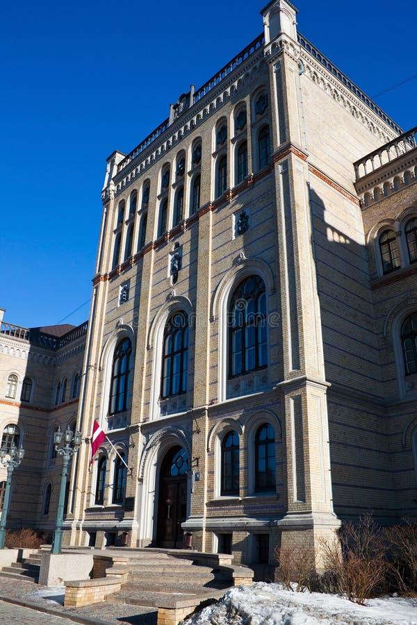Université letton image stock