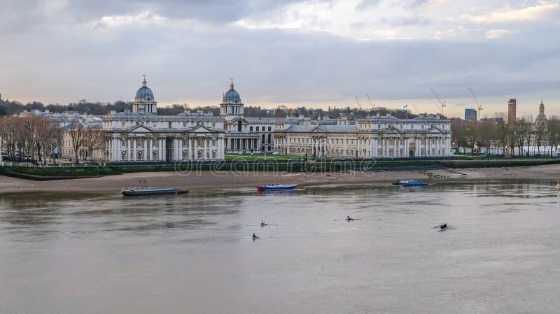 Université navale royale, Greenwich, Londres photo stock