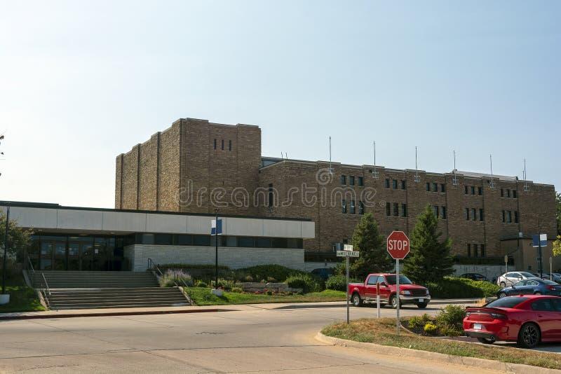 Université publique du Kansas Washburn sur Sunny Summer Day photographie stock