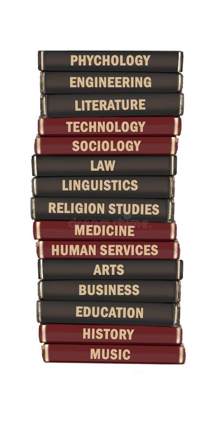 université soumise de manuels photo stock