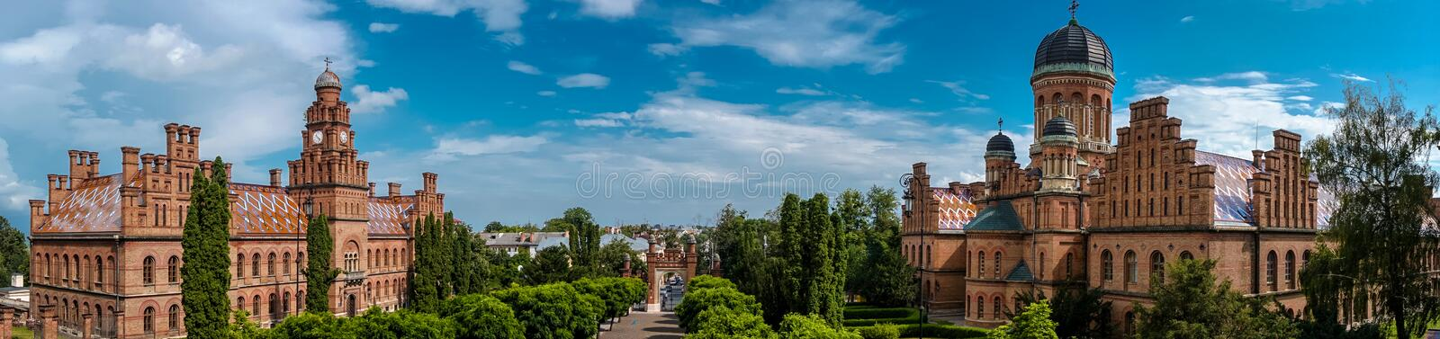 Université Ukraine de Chernivtsi photographie stock