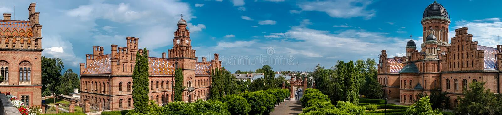 Université Ukraine de Chernivtsi photo stock