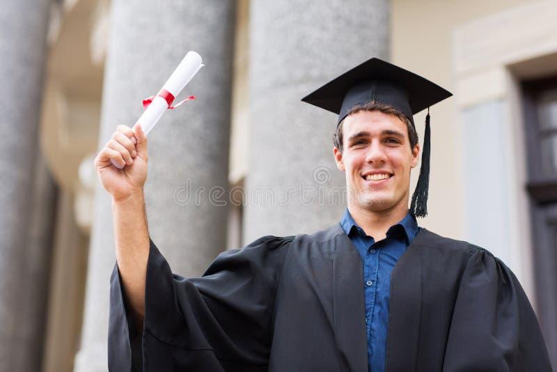 Universitair graduatiecertificaat stock foto