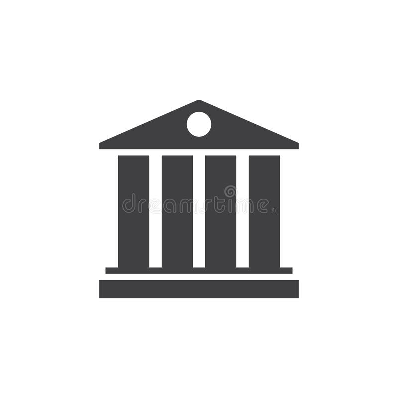 Universitair symbool pictogram, stevige embleemillustratie, pictogr stock illustratie