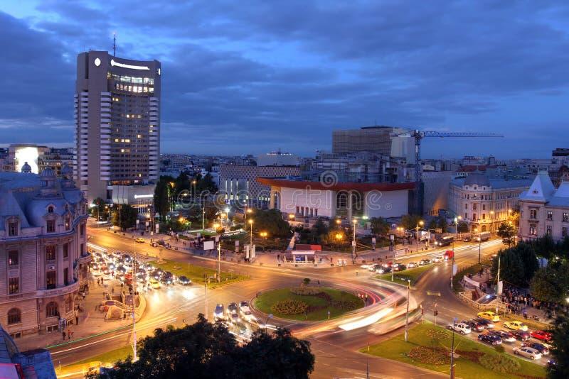 Universitair Vierkant, Boekarest, Roemenië stock foto's