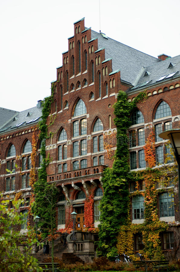 Universitaire Bibliotheek in Lund, Zweden stock afbeelding