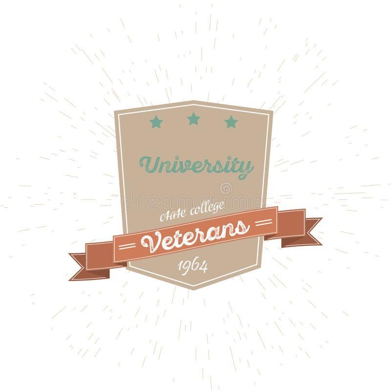 Universitaire die Emblemen en Symbolen - op Witte Achtergrond worden geïsoleerd - Vectorillustratie, Grafisch Ontwerp Editable vo vector illustratie