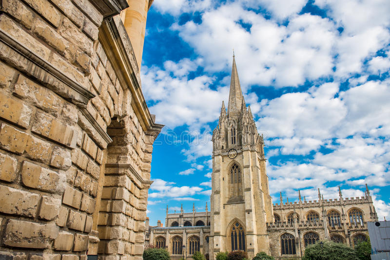 Universitaire Kerk van St Mary Virgin, Oxford royalty-vrije stock afbeeldingen