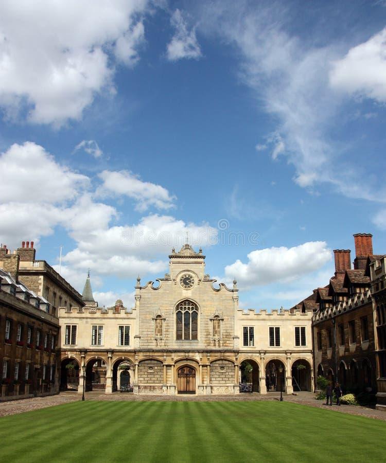 Universiteit Cambridge - Peterhouse stock afbeelding