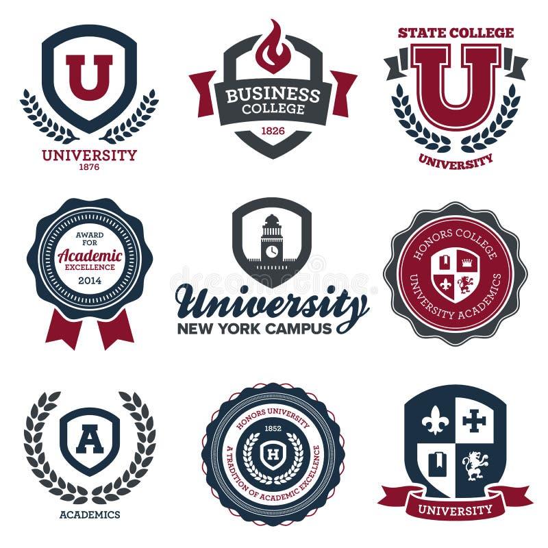 Universiteit en hogeschool kammen vector illustratie