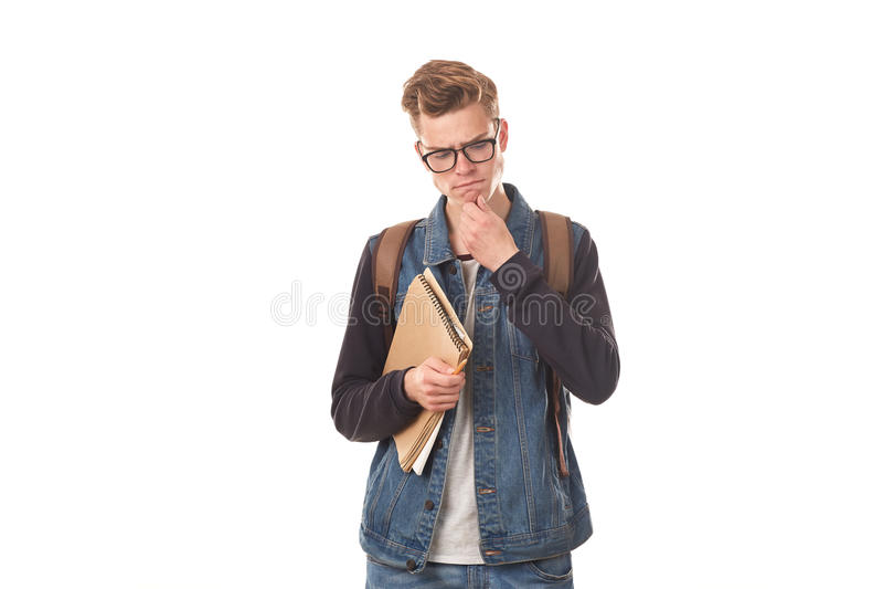 Universiteit nerd royalty-vrije stock foto