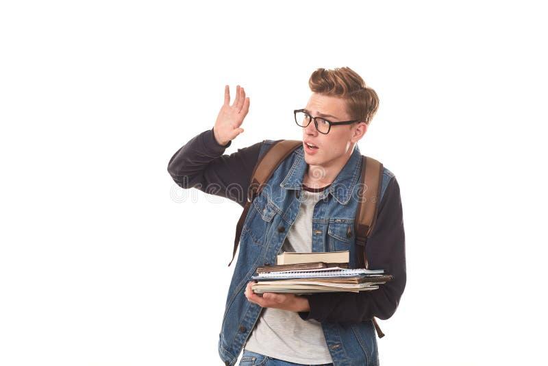 Universiteit nerd stock foto