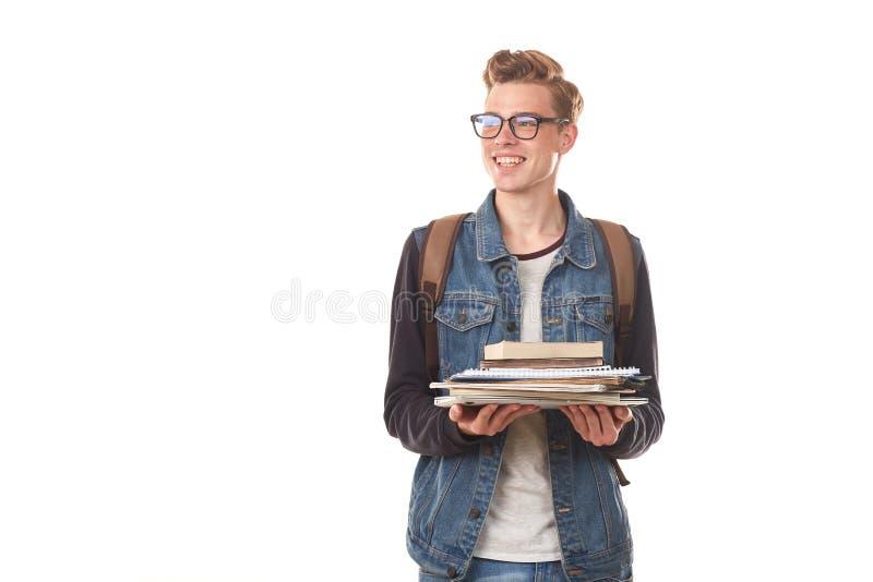 Universiteit nerd royalty-vrije stock afbeeldingen