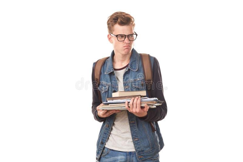 Universiteit nerd stock afbeelding