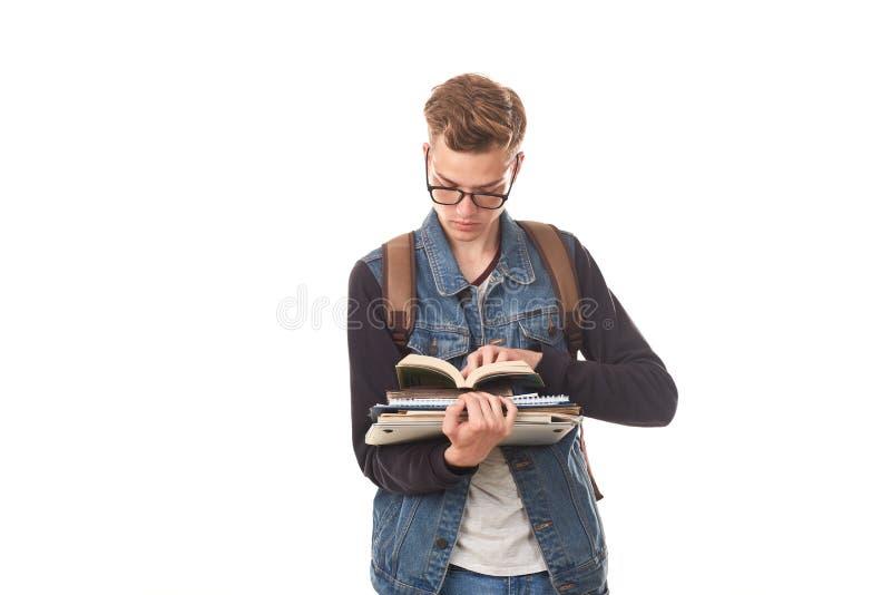 Universiteit nerd stock fotografie