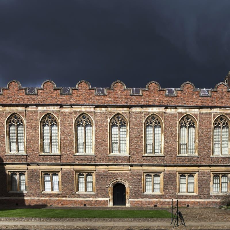 Universiteit op de Universiteit van Cambridge stock fotografie