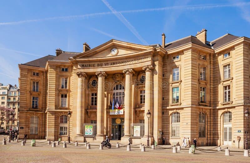 Universiteit pantheon-Sorbonne, als Parijs 1 ook wordt bekend die royalty-vrije stock afbeelding