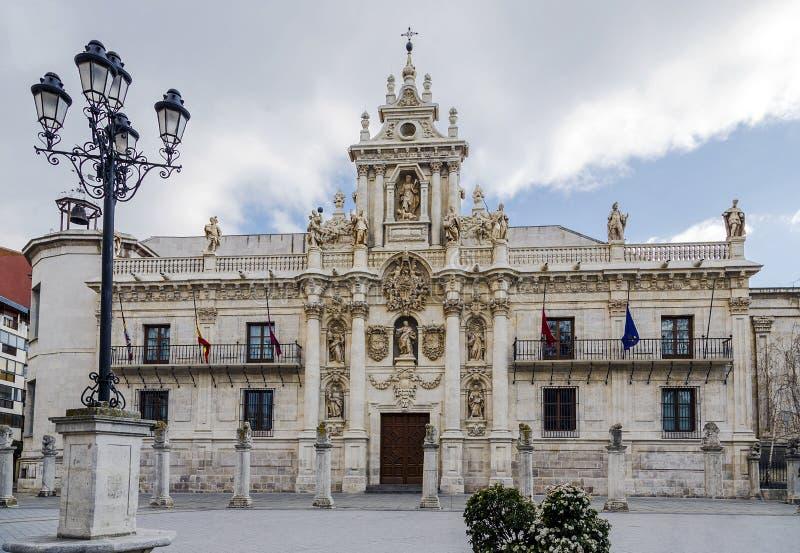 Universiteit in Valladolid royalty-vrije stock afbeeldingen