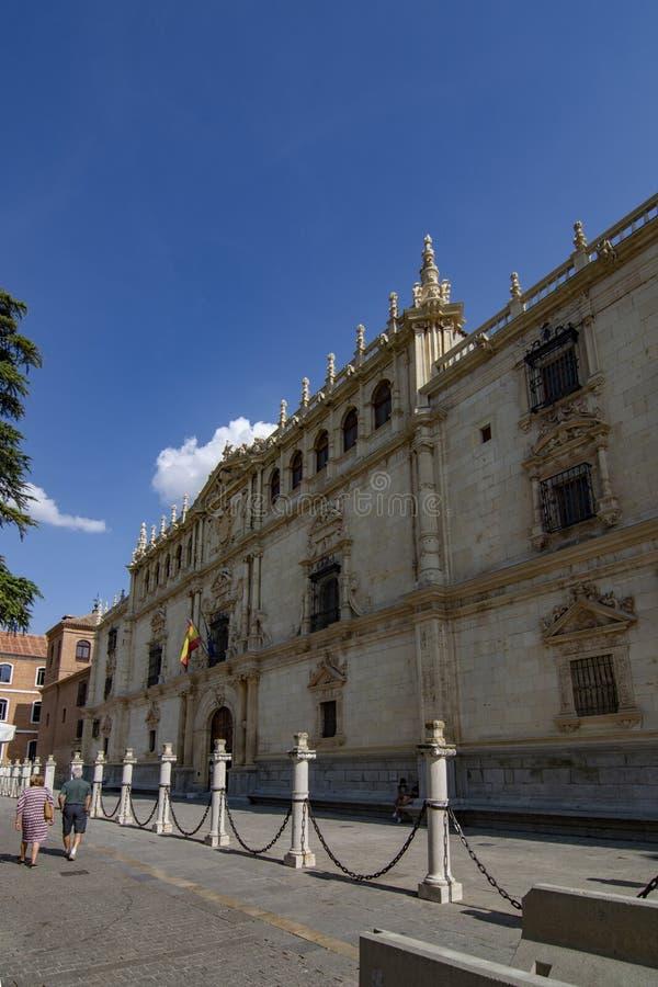 Universiteit van Alcala DE Henares in Madrid stock fotografie