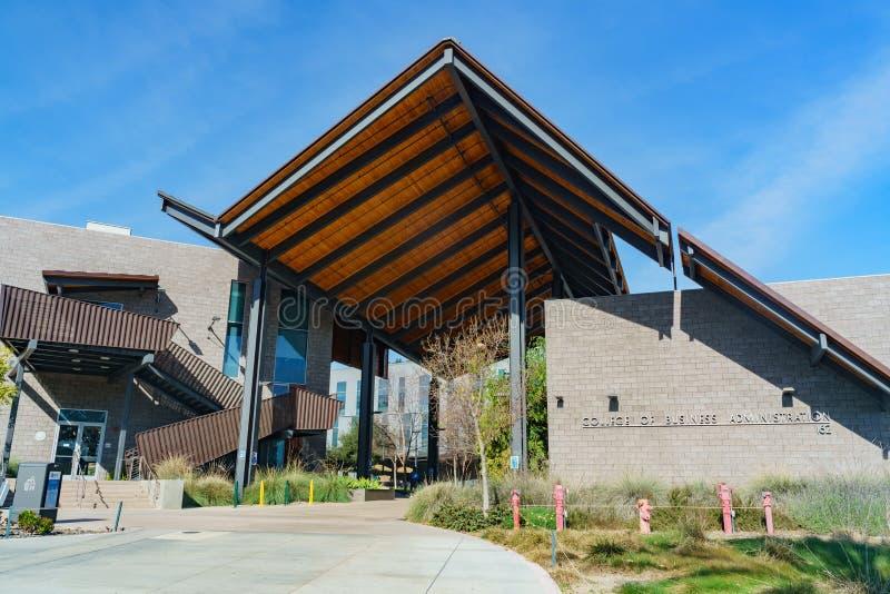 Universiteit van Bedrijfskunde van Cal Poly Pomona royalty-vrije stock afbeelding