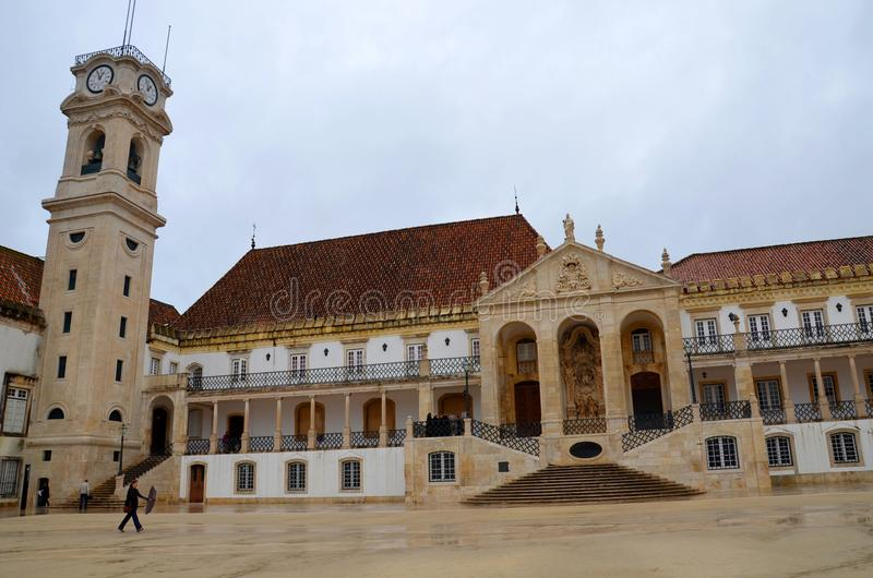 Universiteit van Coimbra, opgezet in 1290, één van de oudste universiteiten in de wereld Unesco-Werelderfenis royalty-vrije stock fotografie