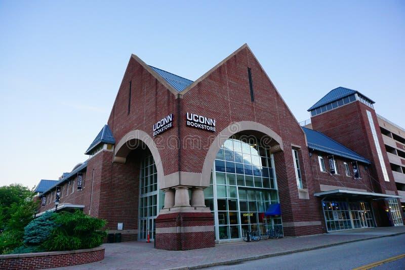 Universiteit van de boekhandel van Connecticut royalty-vrije stock afbeeldingen