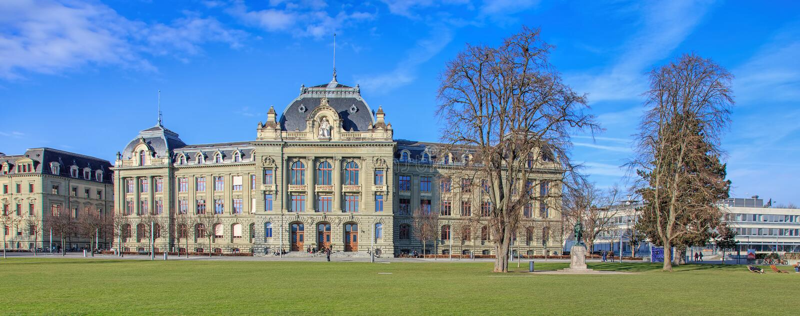 Universiteit van de bouw van Bern stock fotografie