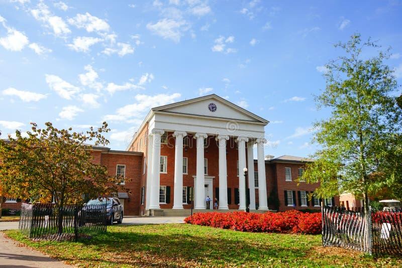 Universiteit van de bouw van de Mississippi stock afbeelding