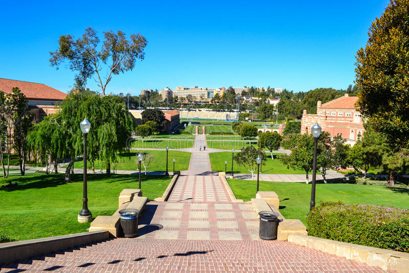 Universiteit van de Campus van Californië Los Angeles UCLA royalty-vrije stock foto