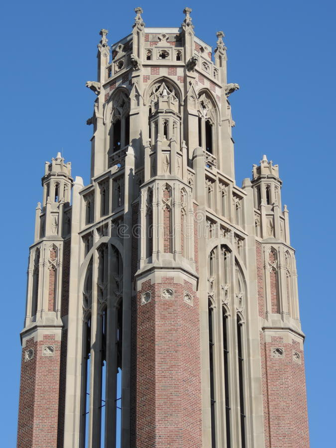 Universiteit van de campus van Chicago royalty-vrije stock afbeelding