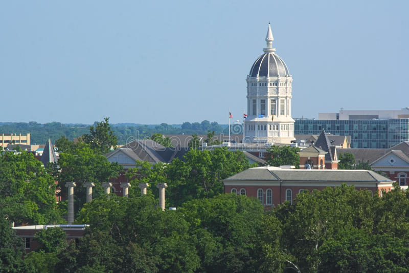Universiteit van de campus van Missouri stock foto's