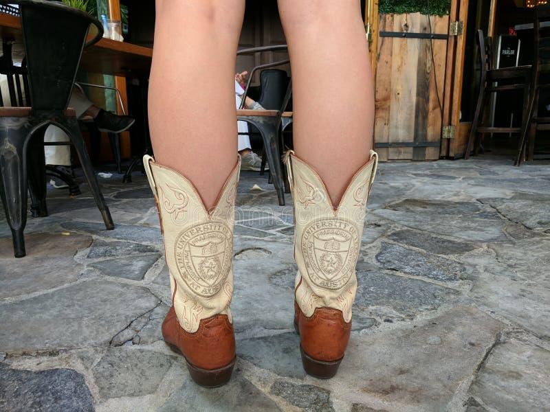 Universiteit van de cowboylaarzen van Texas royalty-vrije stock foto