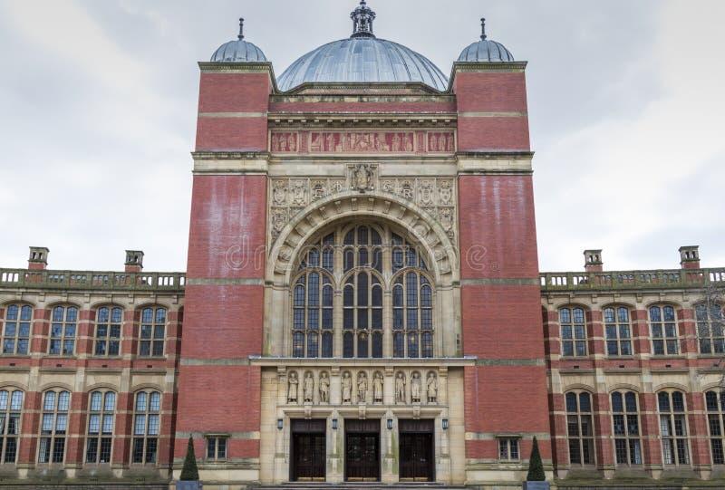 Universiteit van de grote zaal van Birmingham royalty-vrije stock afbeeldingen