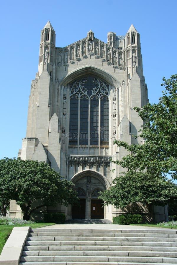 Universiteit van de Kapel van Chicago stock afbeeldingen