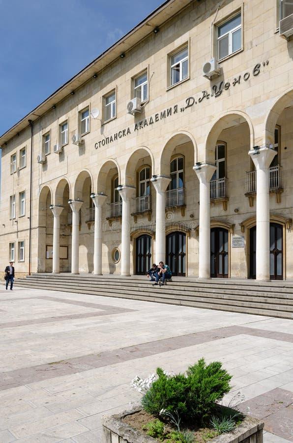 Universiteit van economie in Svishtov, Bulgarije stock afbeelding