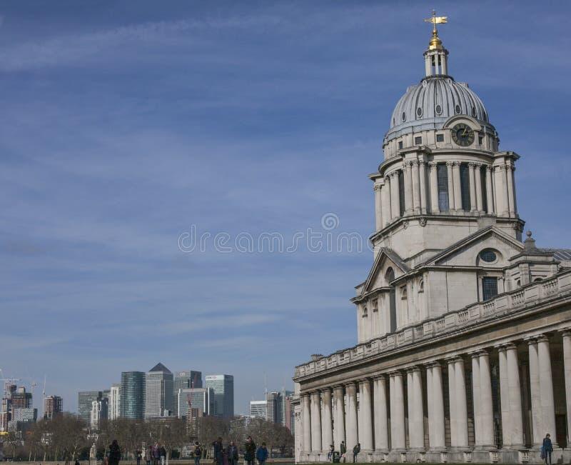 Universiteit van Greenwich, Londen - de oude gebouwen van de instelling royalty-vrije stock afbeelding