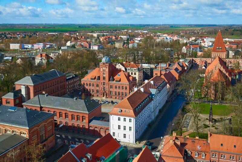 Universiteit van Greifswald Greifswald stock afbeelding