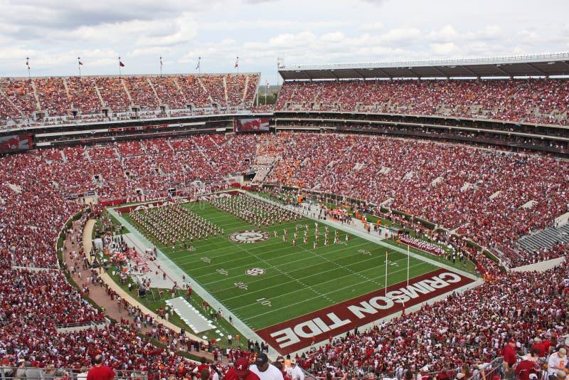 Universiteit van het Miljoen dollarband van Alabama pregame stock afbeelding