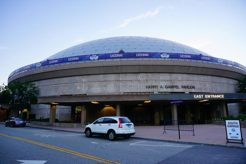 Universiteit van het stadion van Connecticut stock foto's