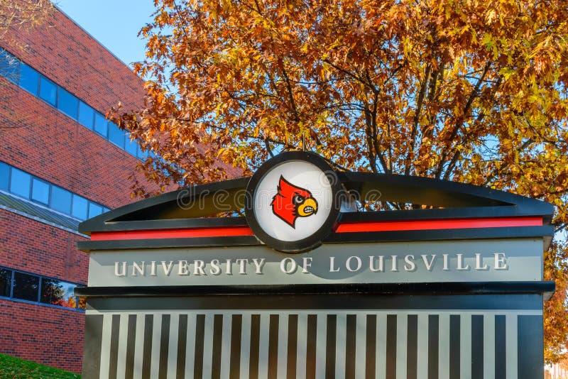 Universiteit van het teken van Louisville royalty-vrije stock afbeelding
