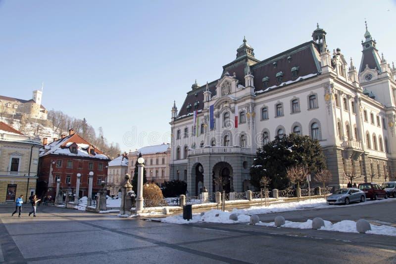 Universiteit van Ljubljana, Slovenië stock fotografie