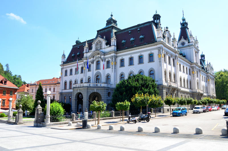 Universiteit van Ljubljana , Slovenië royalty-vrije stock fotografie